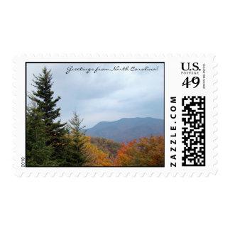Saludos de Carolina del Norte Blue Ridge Mountains Sello