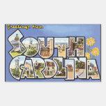 Saludos de Carolina del Sur, vintage Etiquetas