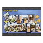 Saludos de Carolina del Sur, vintage Tarjeta Postal