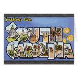 Saludos de Carolina del Sur, vintage Tarjetón
