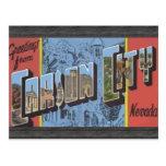 Saludos de Carson City Nevada, vintage Postal