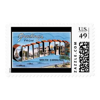 Saludos de Charleston Carolina del Sur Timbre Postal