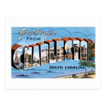 ¡Saludos de Charleston, Carolina del Sur! Vintage Tarjetas Postales