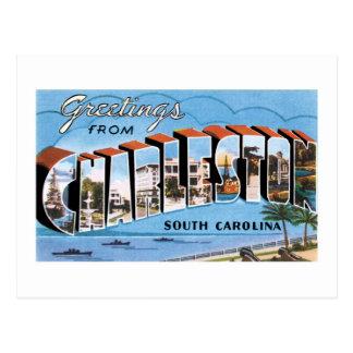 ¡Saludos de Charleston, Carolina del Sur! Vintage Postal