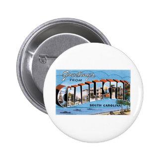 Saludos de Charleston SC Pin