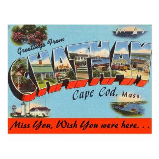Saludos de Chatham, Cape Cod Postal