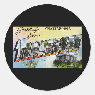 Saludos de Chattanooga Tennesee Etiquetas Redondas