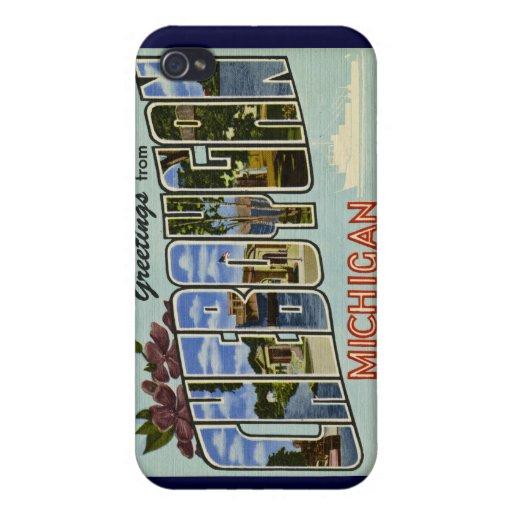 ¡Saludos de Cheboygan Michigan! iPhone 4/4S Carcasa