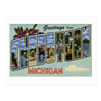 ¡Saludos de Cheboygan Michigan! Tarjetas Postales