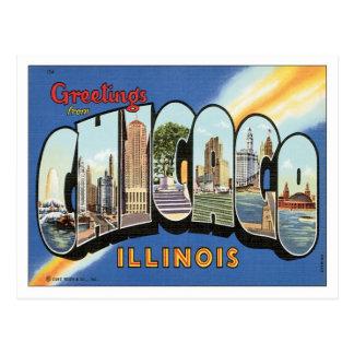Saludos de Chicago Illinois Postal
