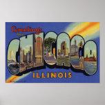 Saludos de Chicago Illinois Poster