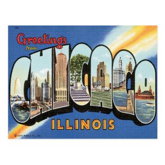 Saludos de Chicago Illinois Tarjetas Postales