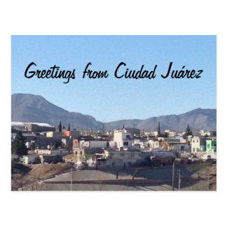 Saludos de Ciudad Juárez Tarjeta Postal
