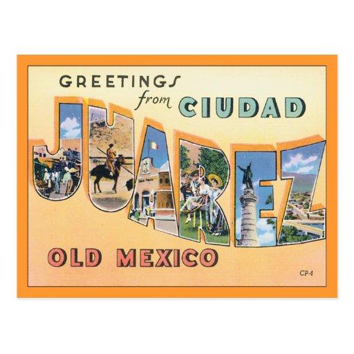 Saludos de Ciudad Juárez Tarjetas Postales