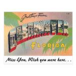 Saludos de Clearwater, la Florida Tarjetas Postales