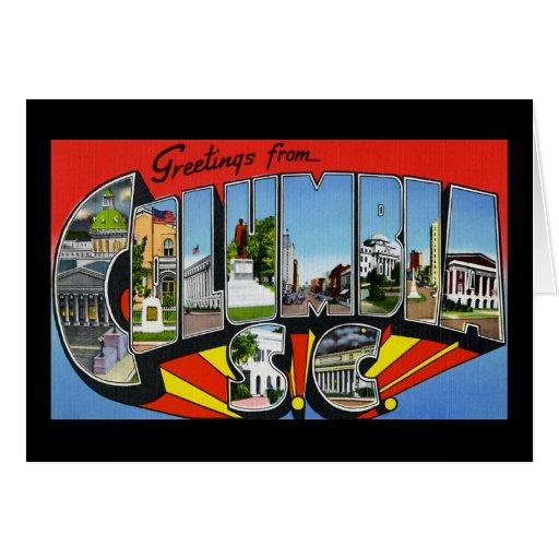 Saludos de Columbia Carolina del Sur Felicitaciones