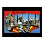 Saludos de Columbia Carolina del Sur Tarjeta Postal