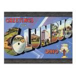 Saludos de Columbus Ohio, vintage Postal