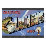Saludos de Columbus Ohio, vintage Tarjetas