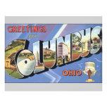 Saludos de Columbus Ohio, vintage Tarjetón