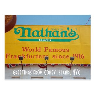 Saludos de Coney Island, NYC 1 Tarjeta Postal