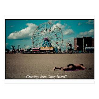 ¡Saludos de Coney Island! Postal