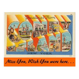 Saludos de Coney Island Postal