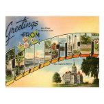 Saludos de Connecticut Tarjeta Postal