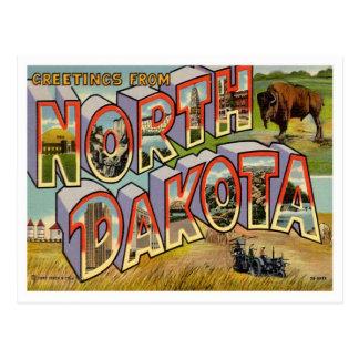 Saludos de Dakota del Norte Postales