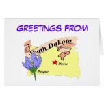Saludos de Dakota del Sur Tarjetas