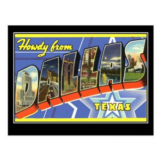 Saludos de Dallas Tejas Postales