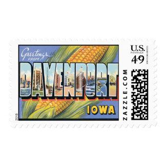 Saludos de Davenport Iowa Franqueo