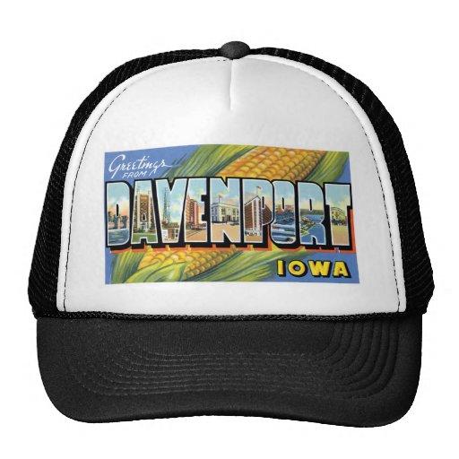 ¡Saludos de Davenport, Iowa! Gorro De Camionero