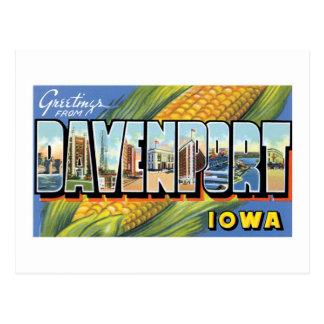 ¡Saludos de Davenport Iowa Postales
