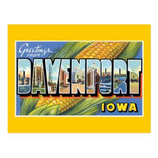 Saludos de Davenport Iowa Postales