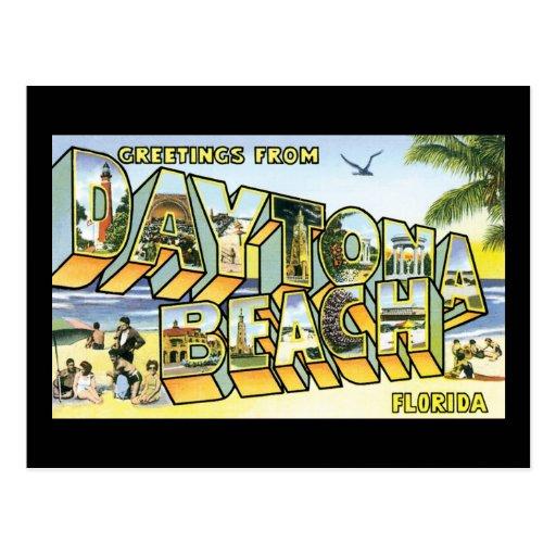 Saludos de Daytona Beach, FL Tarjeta Postal