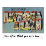 Saludos de Daytona Beach, la Florida Tarjeta Postal