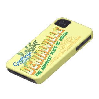 Saludos de Denialville - el lugar más feliz iPhone 4 Case-Mate Carcasa