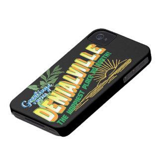 Saludos de Denialville - el lugar más feliz iPhone 4 Case-Mate Carcasas