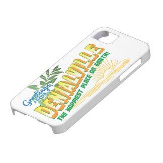 Saludos de Denialville - el lugar más feliz iPhone 5 Fundas