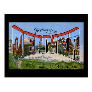 Saludos de Denver Colorado Tarjeta Postal