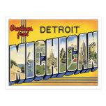 Saludos de Detroit Michigan Postal