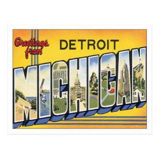 Saludos de Detroit Michigan Tarjetas Postales