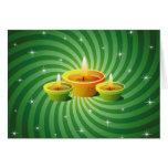 Saludos de Diwali Tarjeton