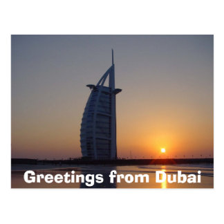 Saludos de Dubai Tarjetas Postales