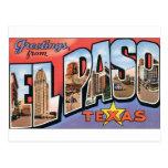 ¡Saludos de El Paso, Tejas! Postal