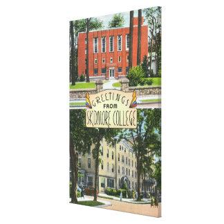 Saludos de escenas de la universidad de Skidmore Lona Envuelta Para Galerias
