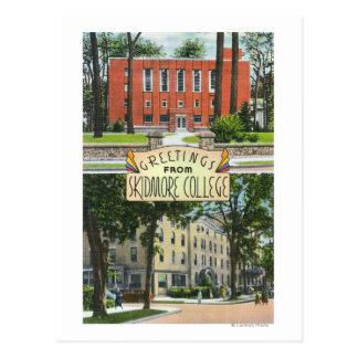 Saludos de escenas de la universidad de Skidmore Tarjetas Postales