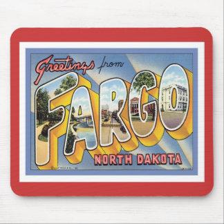 Saludos de Fargo Dakota del Norte Alfombrilla De Raton