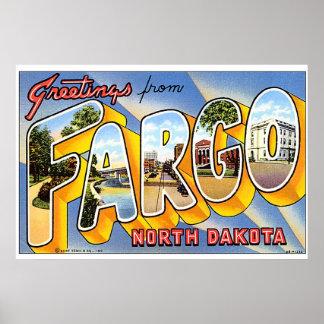 Saludos de Fargo Dakota del Norte Posters